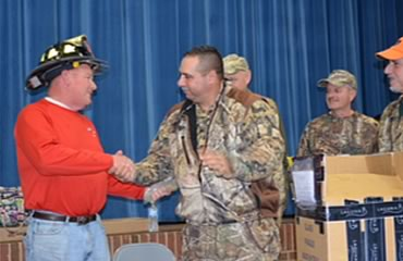 Macon East Academy Headmaster Honored by 9/11 Firefighters