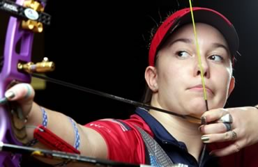 13-year-old Casey Kaufhold zaps adult archery records with Olympic bow and arrow